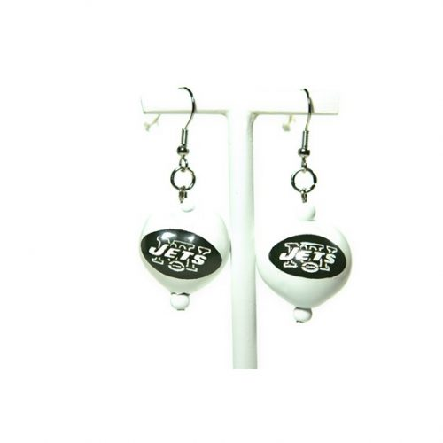 New York Jets Kukui Nut Earrings