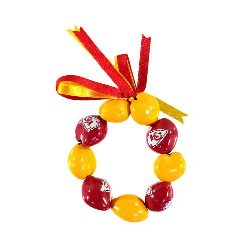 Kansas City Chiefs Kukui Nut Bracelet