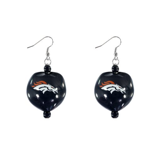 Denver Broncos Kukui Nut Earrings