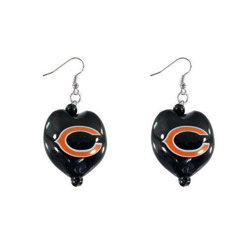 Chicago Bears Kukui Nut Earrings