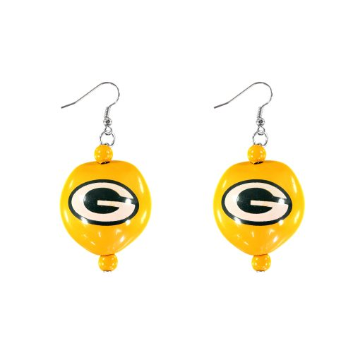 Green Bay Packers Kukui Nut Earrings