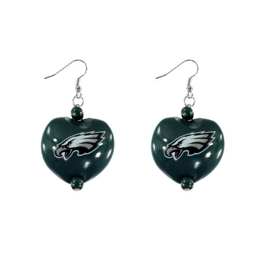 Philadelphia Eagles Kukui Nut Earrings